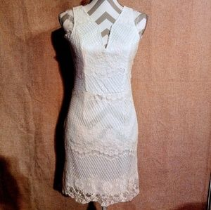 Beautiful white lace dress size large